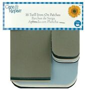 Dritz Care And Repair Twill Iron-on Patches 16/pkg