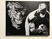 Batman Joker Death Of The Family Hand Painted Signed Fan Art Snyder Capullo Look