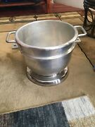 Hobart D20 20 Quart Downsizing Commercial Ss Mixing Bowl For 30 Quart Mixer Used