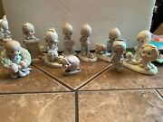 Jonathan And David Precious Moments Figurines From 1979-1983, Set Of 9