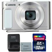 Canon Powershot Sx620 Hs Digital Camera Silver 1074c001 With 32gb Memory Card