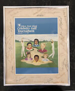 Neil Armstrong Signed With Co-signers 1987 Hilton Celebrity Golf Tournament