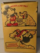 1934 Walt Disney Mickey Mouse Cut Outs Cereal Box Post Toasties Corn Flakes