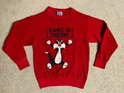 Vintage 1986 Sylvester Looney Tunes Sweatshirt Made In Usa Menand039s Womenand039s Red