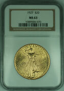 1927 Gaudens 20 Double Eagle Gold Coin Ngc Ms-63 G