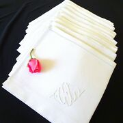 10 Dinner Napkins French Vintage Linen Cotton Table Linens French Notions