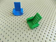 Lego 1 Green And 1 Blue Technic Seat 3 X 2 Base Part 2717