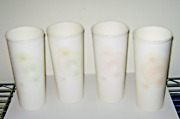 Tupperware 16 Oz Straight Edge Tumblers Set Of 4 Cream Stardust Color Changing