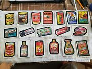 1974 Ser 8 Wacky Packages Complete Set Wo Puz Hex Lax And Yicks