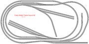 Train Layout 042 Bachmann Ho Ez Track Nickel Silver - 5and039 X 10and039 - Train Set
