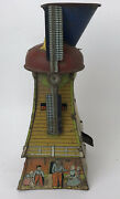 Vintage Dutch Mill Windmill Sand Toy By Mac Tin Litho For Repair/parts