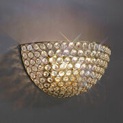 Inspired Il30758 Ava Double Wall Light French Gold/clear Finish