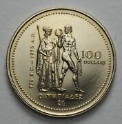 1976 Canada Canadian Olympic 100 Gold Proof Coin