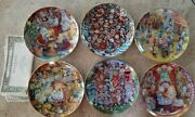 Bill Bell Holiday Cats Set Of Six Plates