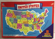 Vintage Milton Bradley Jigsaw Puzzle Of The United States And The World New