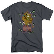 Scooby Doo Being Watched T Shirt Mens Licensed Cartoon Scooby Shaggy Charcoal
