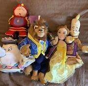 Beauty And The Beast Dvd And Limited Series Plush Dolls Set Of 5 Dolls And Movie