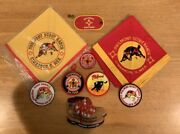 Lot Of Boy Scouts Philmont Scout Ranch Neckerchiefs And Patches