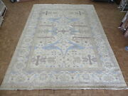 12and0393 X 16and0398 Hand Knotted Ivory Oushak Oriental Rug Ushak G8722