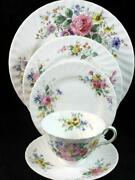 Royal Doulton Arcadia 5 Piece Place Setting Brown Backstamp H4802 Great Cond