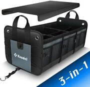 Car Trunk Organizer, Foldable Cover, Heavy Duty Collapsible Car Trunk Storage
