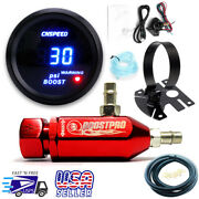 Manual Boost Controller Kit Red Turbo Mbc 0-30psi With Boost Gauge And Mount