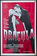 Dracula R1960 Original Movie Poster One Sheet Linen Backed Rerelease 27x41