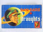 Vintage Dan Dare Draughts Set Checkers Space Board Game Chad Valley 1955 Rare