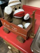 Coca Cola Wooden Bottle Crate Wagon Talking Monkey For A Ride Coke Home Kit Deco