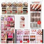 Impress Gel And Reg Press-on Manicure Nails 24 And 30 Nail W/accents Choose Style