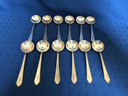 Treasure Lunt William And Mary Twelve Soup Spoons 5 3/8