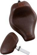 Mustang Brown Tripper Motorcycle Solo Seat And Backrest 18-20 Harley Softail Fxbb