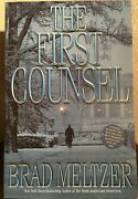 The First Counsel By Brad Meltzer 2001 Signed Advanced Reading Copy