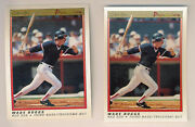 1991 O-pee-chee Premier Wade Boggs / Cory Snyder Double Front Error Pair Opc