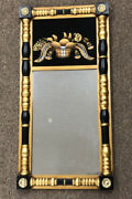 Vintage Hitchcock Furniture Federal Style Gold Leaf Wall Mirror Reverse Painting
