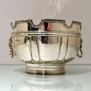20th Century Modern George V Sterling Silver Monteith Bowl Lon 1928 D And J Welby