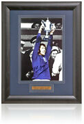 John Greig Hand Signed 12x8and039and039 Framed Photograph Rangers Legend Photo Coa