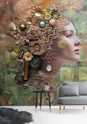 3d Girl Face Pattern 56 Wall Paper Exclusive Mxy Wallpaper Mural Decal Indoor Aj