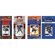 Candi Collectables Nhl New York Islanders 4 Different Licensed Trading Card Tea...