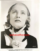 Vintage Barbara Stanwyck Gorgeous Early 30s Wb Lb Publicity Portrait
