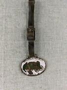 Vintage Advance Rumely Oil Pull Tractor Farm Equipment Enameled Watch Fob Rare