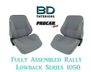 Full Seats 80-1050-62 Reclining Rally 1050 Series Grey Velour For Datsun 240z