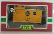 Lgb 43650 C And S 1003 Bobber Caboose Ob Colorado And Southern G Scale Steel Wheels