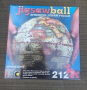 New Tdc Jigsaw Ball 3d Antique Globe 9 Spherical Jigsaw 212 Pc. Puzzle + Stand