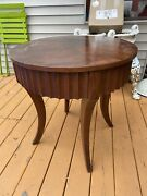 Ethan Allen Legacy Avenue Side Solid Wood Table Made In Usa