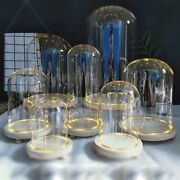 Glass Dome Cover Decor Dry Flower Ornaments Handmade Craft Bell Tabletop Display