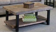 Alaterre Pomona Coffee Table Reclaimed Wood And Metal Natural Rustic Furniture