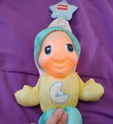 1998 Playskool Glow Worm 5770 With A Moon On The Belly Very Cute Works Great