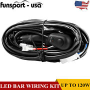 For Offroad Light / Led Light Bar 8ft Wiring Harness With Switch And Relay 18awg