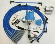 Small Cap Buick 350 Blue Hei Distributor + 60k Coil + 8mm Spark Plug Wires Usa